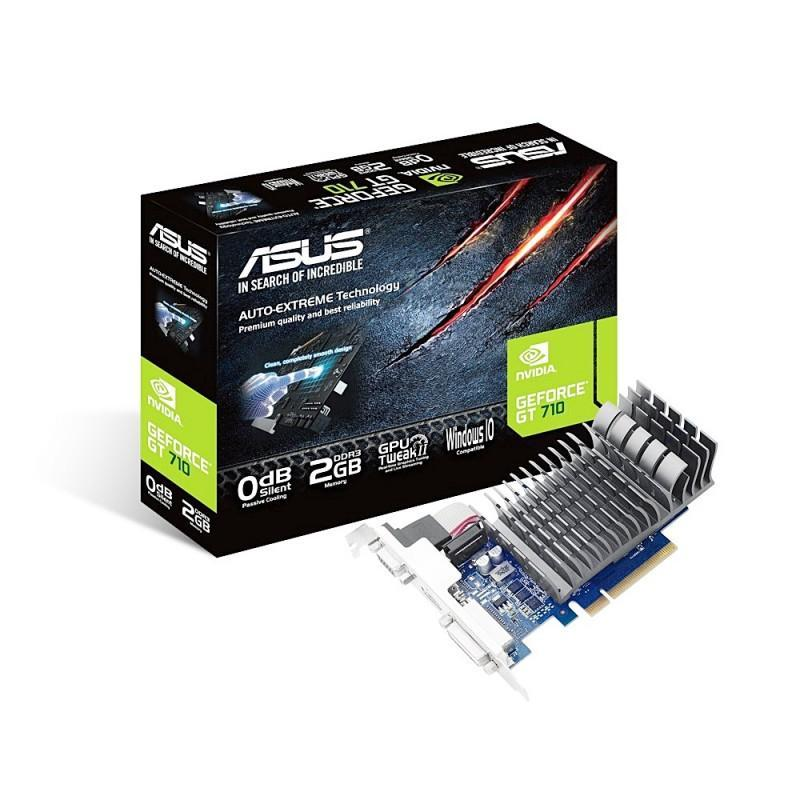 NVIDIA GT 710晶片推出,ASUS兩款GT 710顯示卡上市,採無風扇散熱