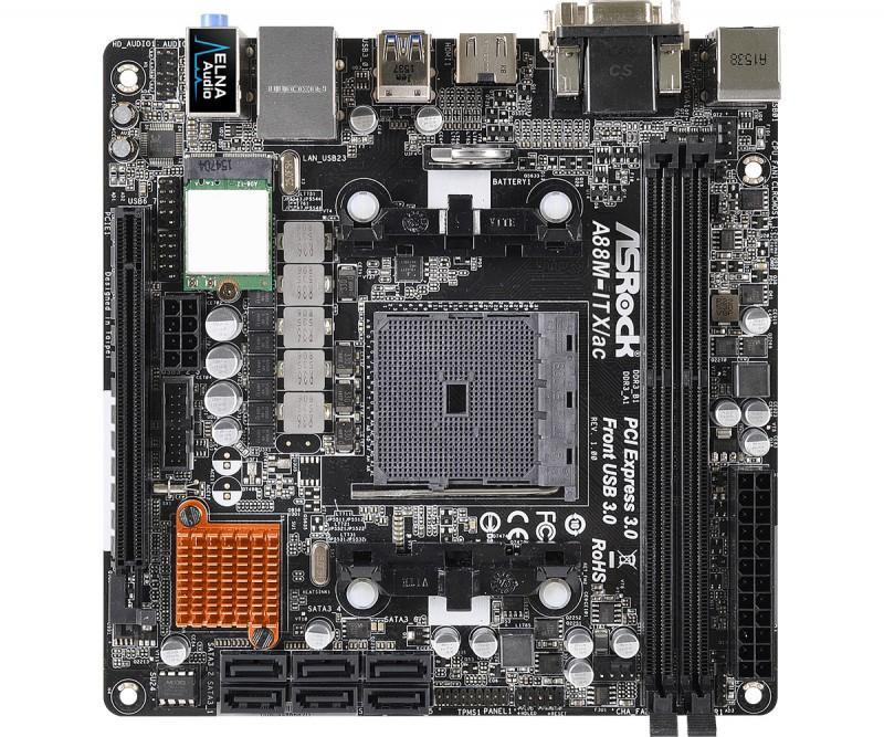 APU新夥伴ASRock華擎推出A88M-ITX/ac mini-ITX主機板