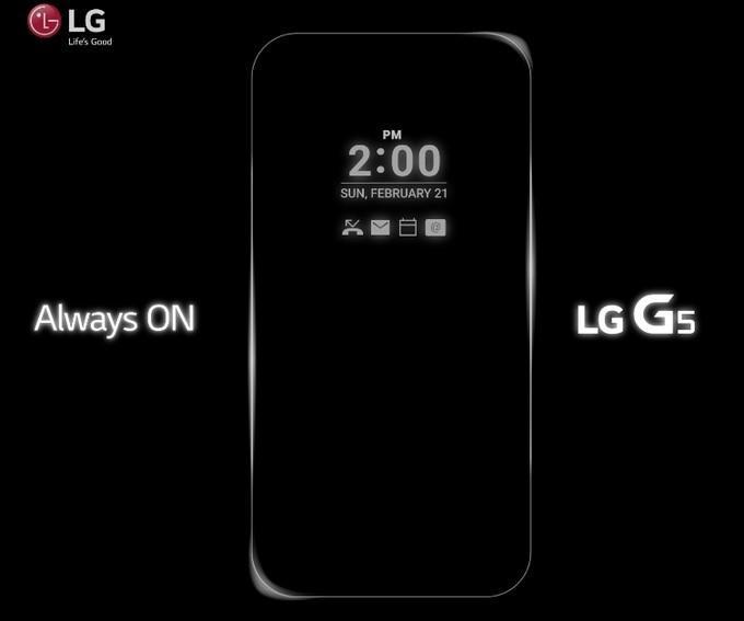 繼續在屏幕上玩花樣,LG G5 屏幕可永不熄滅