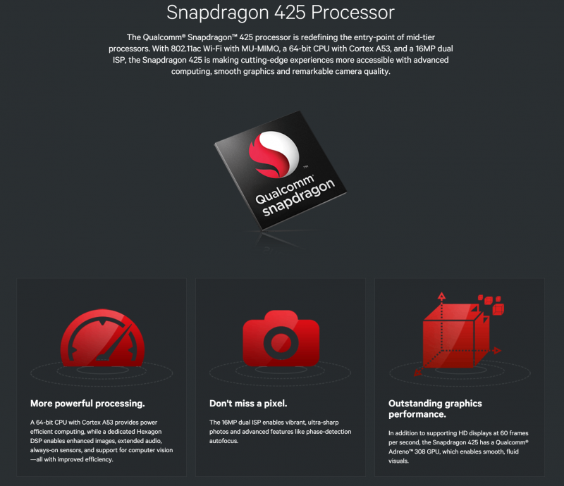 高通Qualcomm發表Snapdragon 625、435和425處理器