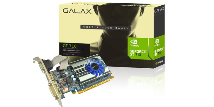 GALAX推出單槽版GT 710 1GB DDR3顯示卡