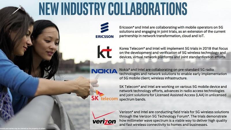 Intel宣布與多家公司合作 加速5G布局之路