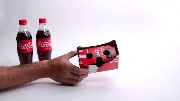 Coca-Cola無限創意 讓包裝盒變身VR裝置