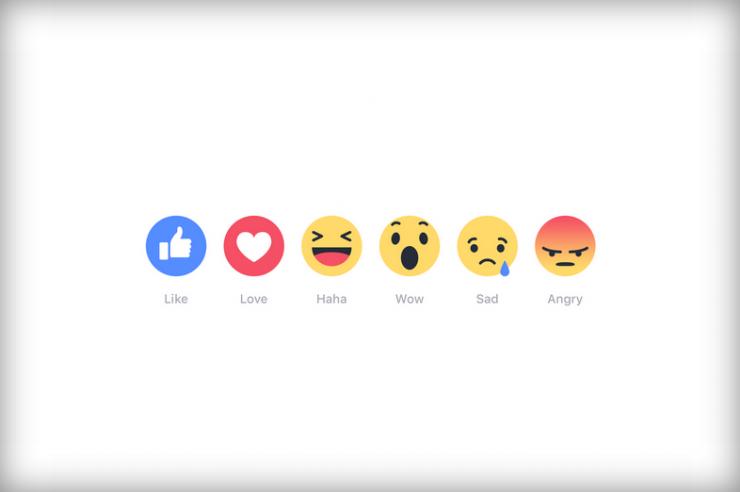 """不只有""""點贊"""",Facebook推出多個情緒按鈕"""