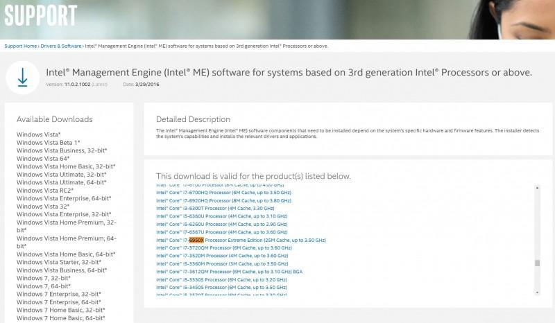 Intel曝光Core i7-6950X Extreme Edition在其公司網站上