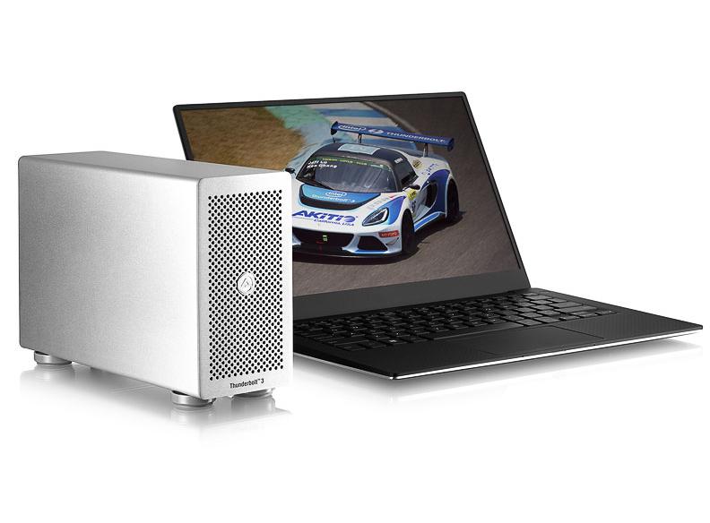 Akitio Thunder3 PCIe SSD外接裝置,支援NVMe能夠高速讀寫儲存,也能外接螢幕使用