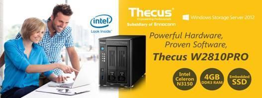 Thecus色卡司Windows NAS 新一代2bay生力軍