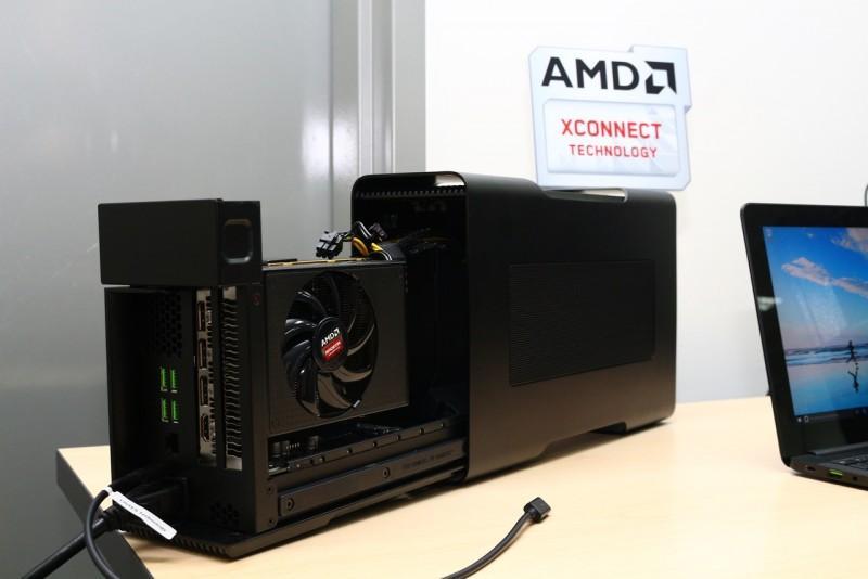 AMD 展示XConnect 技術 Razer Core 顯示卡外接盒,隨插即用真方便