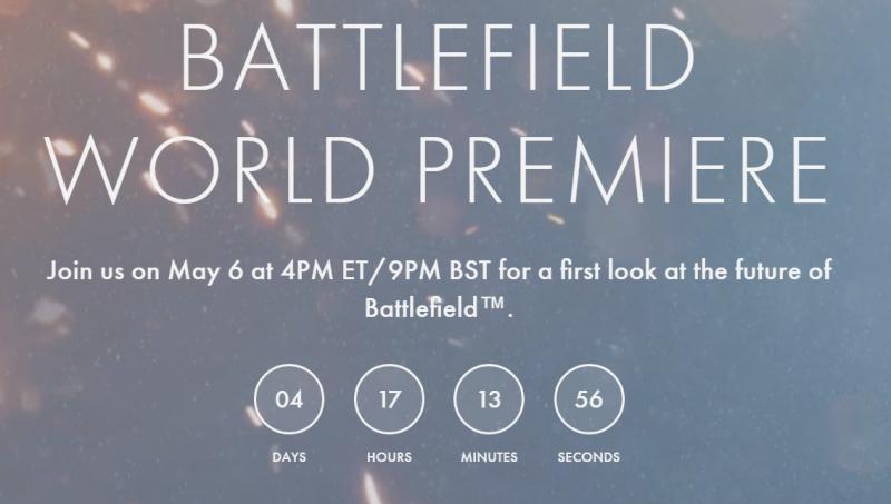 BATTLEFIELD下款遊戲公開時間確定