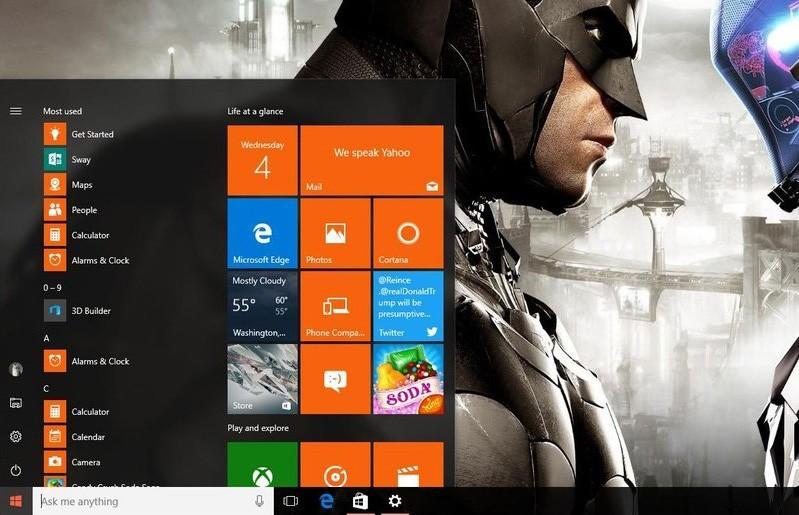 被指糟糕! Windows 10或許將取消新版開始選單
