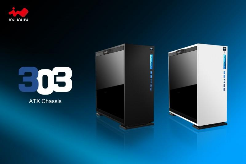 強化玻璃與率性鋼板的完美組合,迎廣推出簡約時尚的In Win 303機殼