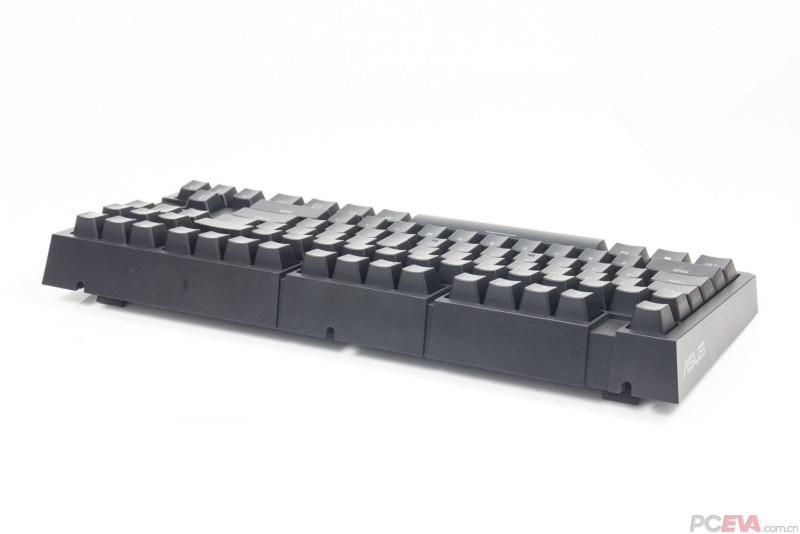 華碩 ASUS M801電競機械鍵盤 友站評測-凱華紅軸、87鍵、紅色LED、可拆卸USB線