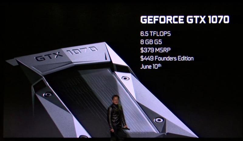 NVIDIA Pascal晶片組GTX 1080和GTX 1070顯示卡公布價格和販售日期