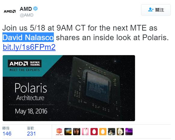 AMD於5/18網路會議上將會透漏Polaris 11 GPU