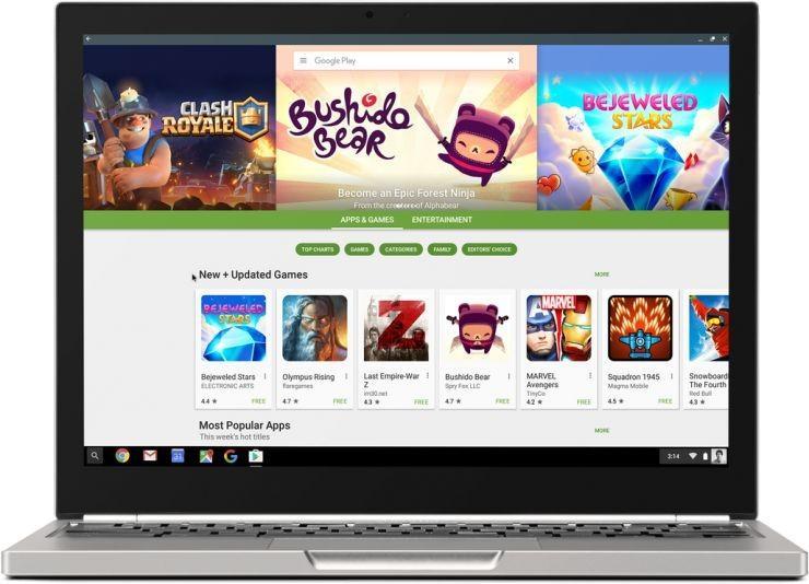 谷歌的Chrome OS馬上可以運行所有安卓應用了