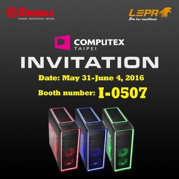 ENERMAX 安耐美2016 Computex 國際電腦展,五大產品線新品到齊