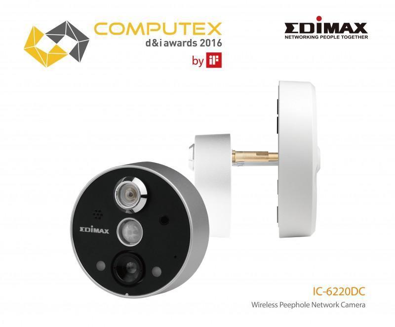 Edimax IC-6220DC貓眼監控系統,獲iF執行的COMPUTEX d&i awards 2016創新設計獎