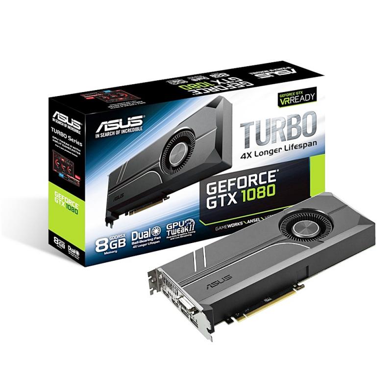 ASUS華碩推出 TURBO GTX1080 8G 顯示卡,採渦輪扇設計
