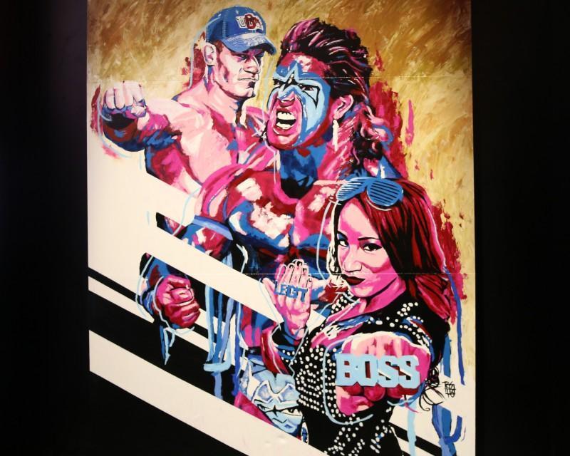 E3展上2K與WWE人像大師Rob Schamberger合作揭露了另外三位 WWE 2K17角色陣容成員