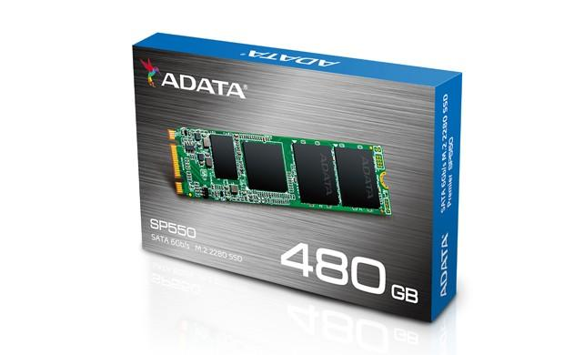 ADATA 威剛推出SP550 M.2 SSD固態硬碟,採用SMI搭配TLC顆粒方案