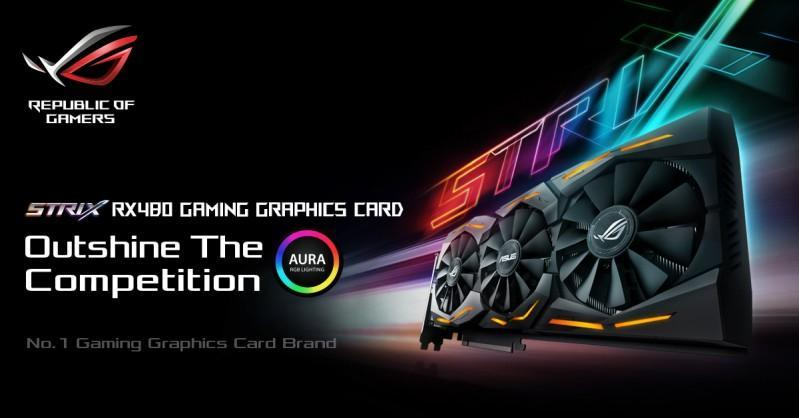 ASUS華碩將會推出ROG STRIX RX 480顯示卡,同樣具有三風扇和RGB燈光設計