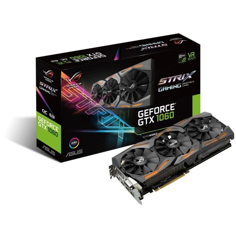 ASUS 華碩 推出ROG STRIX GeForce GTX 1060電競顯示卡!