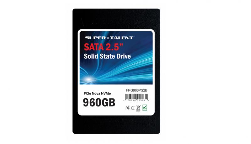 Super Talent推出U.2介面PCIe 3.0 X4 NVMe SSD