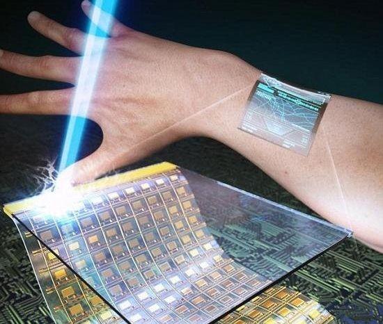 """穿戴設備的革新:可讓顯示屏""""長""""在皮膚上"""