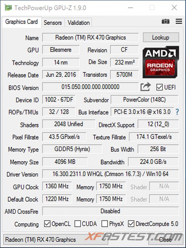 POWERCOLOR RED DEVIL RADEON RX 470顯示卡超頻版本再超頻效能再增進