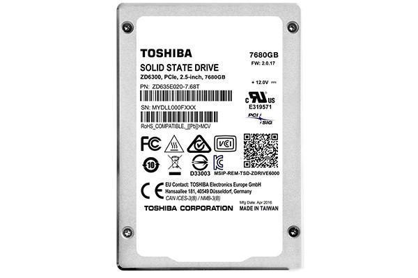 TOSHIBA推出ZD6000系列SSD 最大容量7.68TB