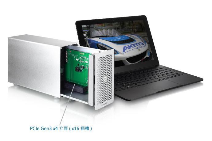 Akitio 發佈 雷霆3 PCIe 轉接盒,全球第一台 Thunderbolt3 的 PCIe 轉接盒