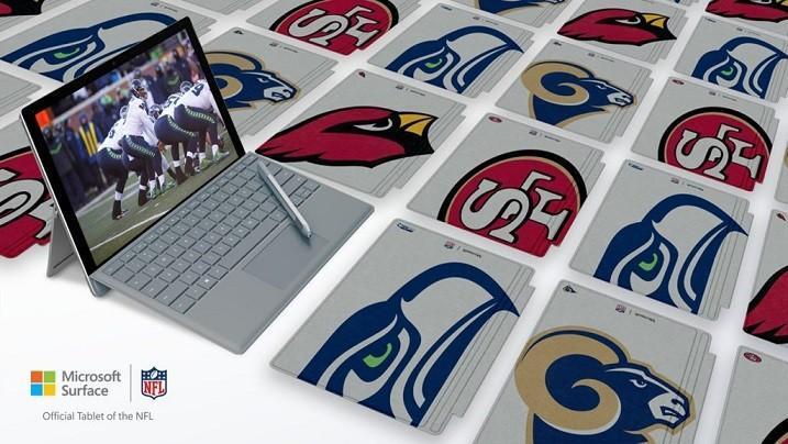 Microsoft微軟開賣NFL美式足球特別版Surface Type Cover