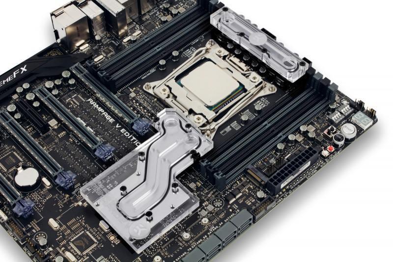 EK開賣ASUS Rampage V Edition 10主機板專用水冷頭套件