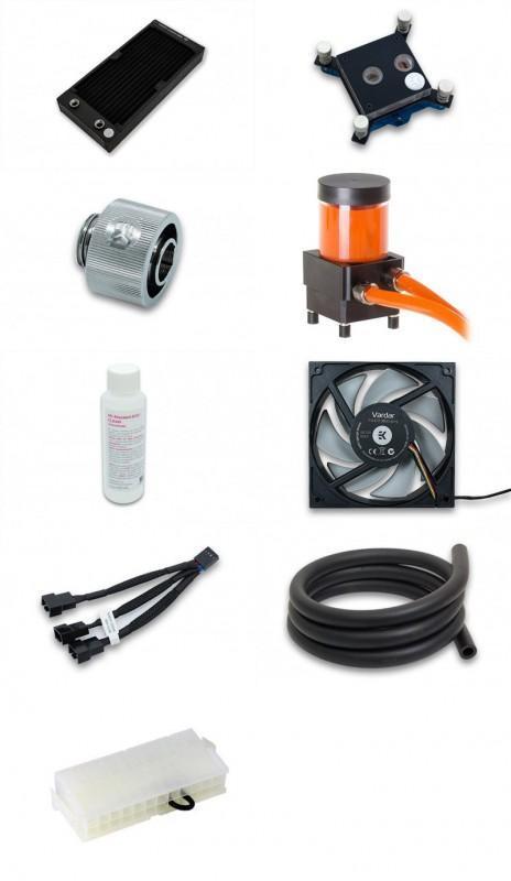 EKWB Liquid系列 L240 Starter水冷套件組|EK-KIT L240 R2.0|240mm冷排/軟管/水箱/接環/水泵馬達