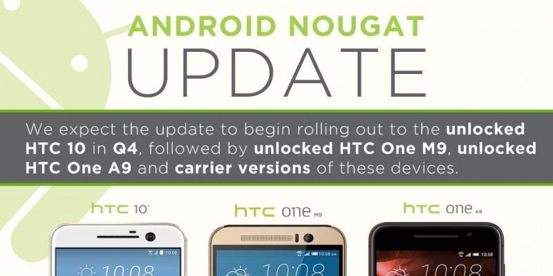 HTC公布可升級ANDROID 7.0 Nougat的機型和時程