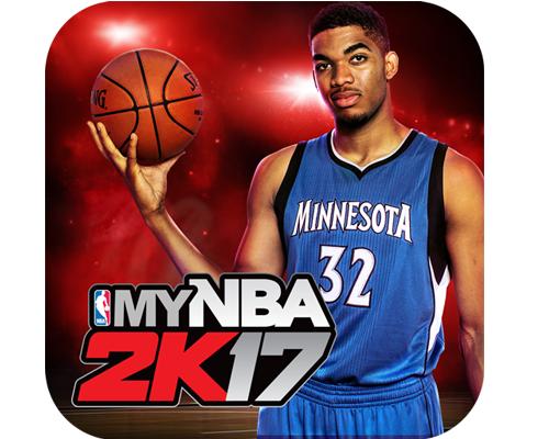 NBA 2K宣布由2016年NBA年度最佳新秀Karl-Anthony Towns擔任MyNBA2K17應用程式圖示封面球員