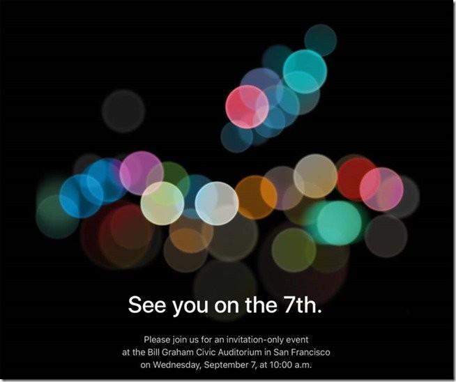APPLE將於9/7舉辦發表會,新款iPhone 7即將到來