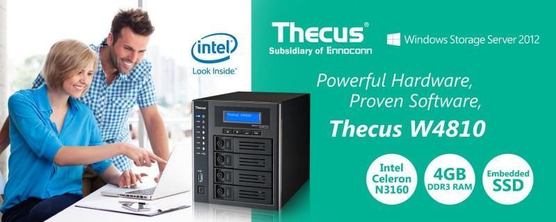 Thecus旗下微軟NAS家族系列推出全新4 Bays NAS W4810