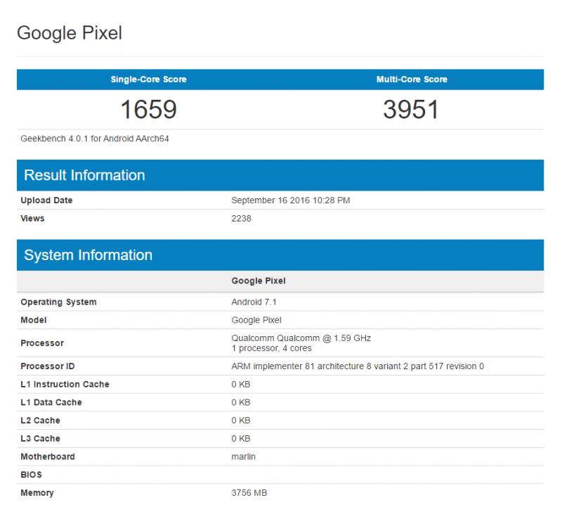 Google Pixel XL最新Geekbench效能測試曝光