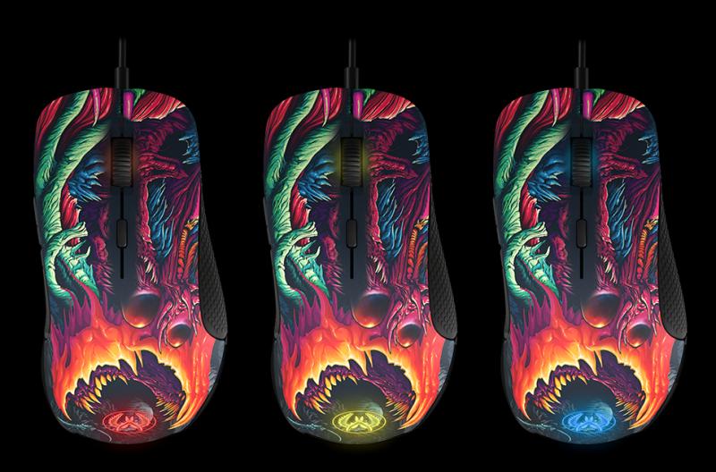 SteelSeries 推出 CS:GO HYPER BEAST 塗裝 RIVAL 300 與 QCK+