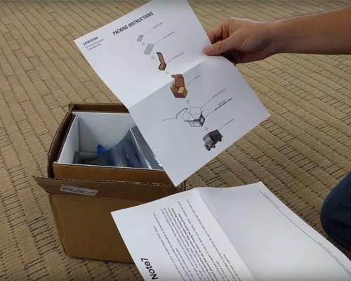 Samsung 提供 Note 7 防爆回收盒 供用戶安全回收使用