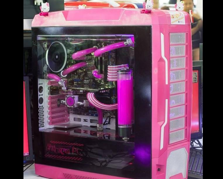 VENUZ VC701 外觀改裝 Hello Kitty水冷電腦
