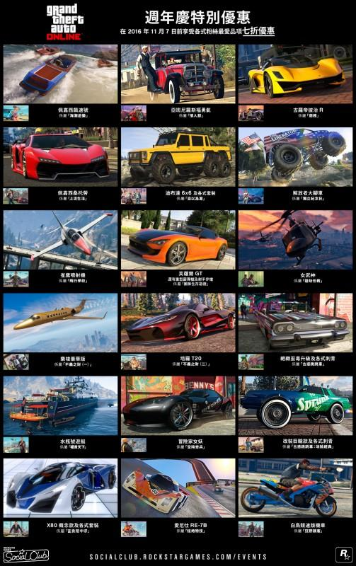 GTA 線上模式萬聖節特別活動、週年慶獎勵、全新載具以及更多內容