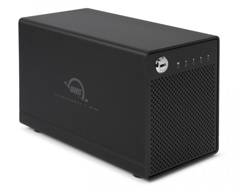 OWC ThunderBay 4 mini外接盒,最高可達40TB,SSD與HDD可混合使用