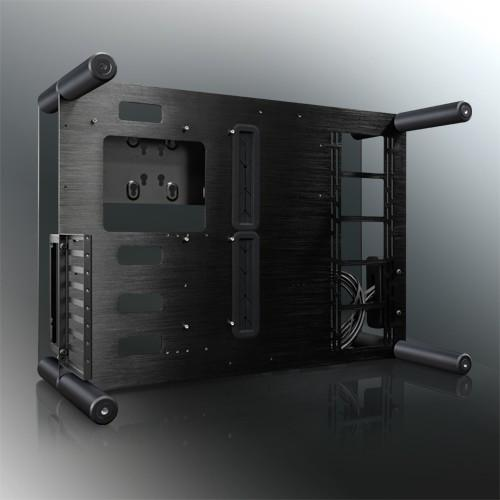 Raijintek推出PAEAN開放式強化玻璃機殼,前後頂底全簍空
