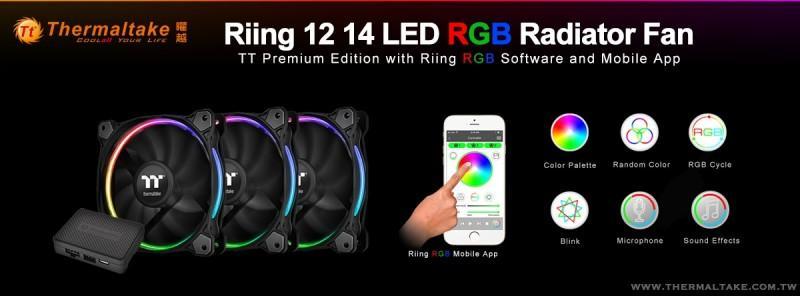 曜越以智慧IoT物聯網實現手機控制Riing RGB風扇!