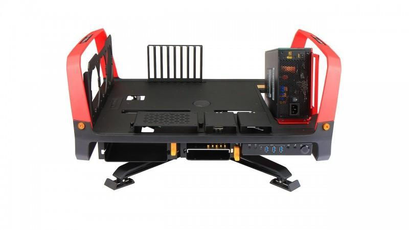 迎廣 In Win X-Frame 2.0開放式機殼登場,直立平躺360度選旋轉