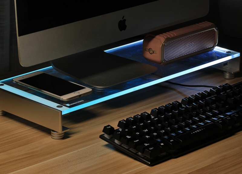 Jonsbo喬思伯螢幕架GA-01給你LED燈