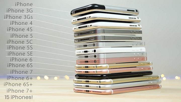 iPhone十週年!15款iPhone全部在此!