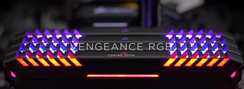 CORSAIR海盜船 VENGEANCE RGB 發光記憶體即將到來